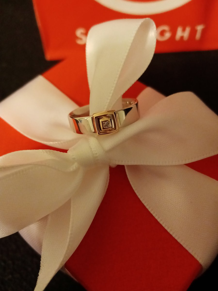 Кольцо комбо (серебро, золото, брюлик)