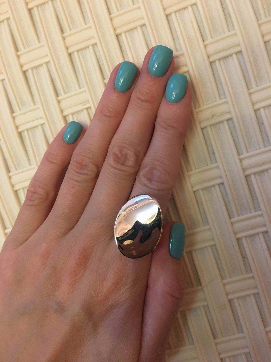 Кольцо серебряное необычной формы