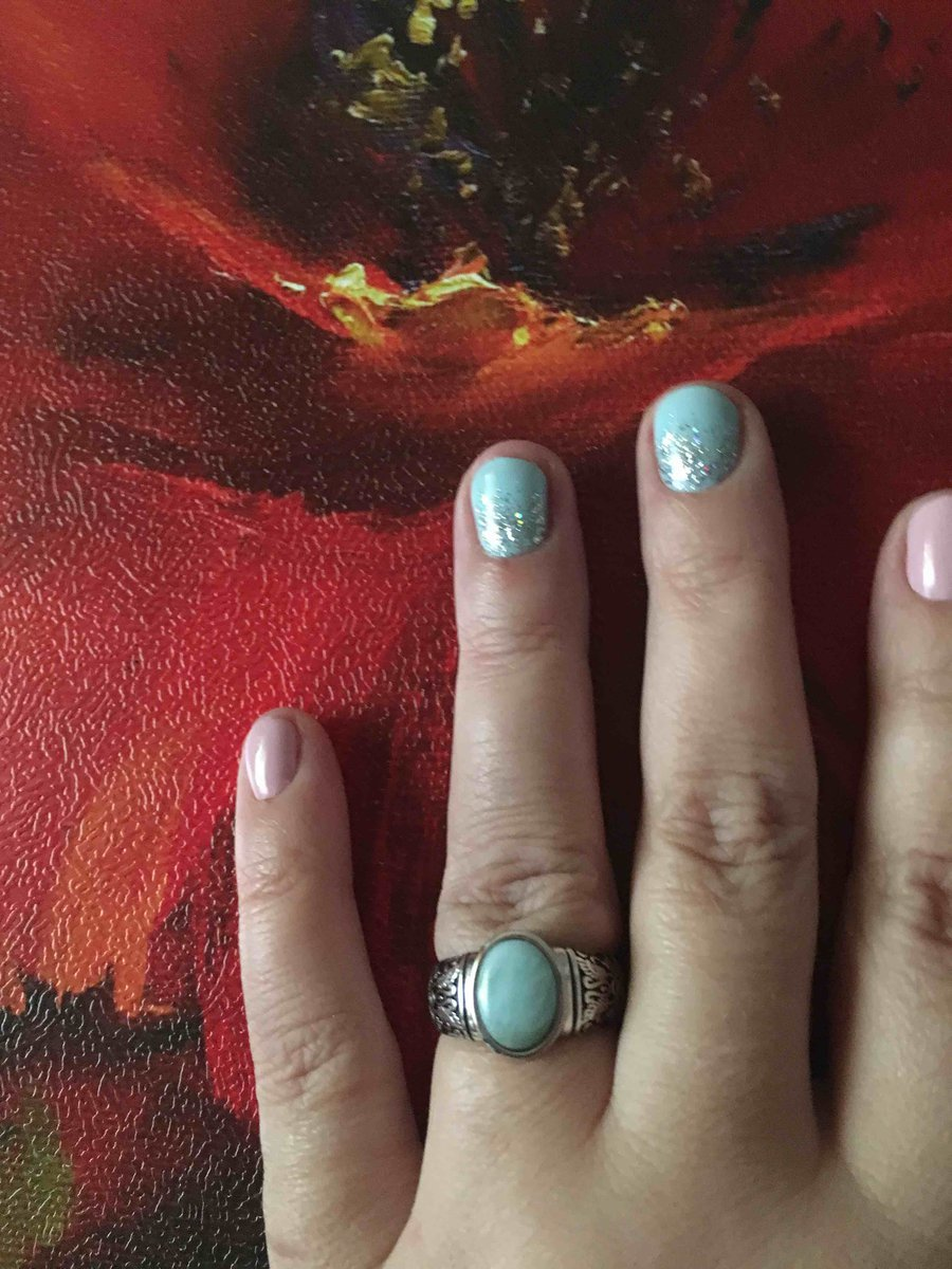 Изящное кольцо с ларимаром!!!