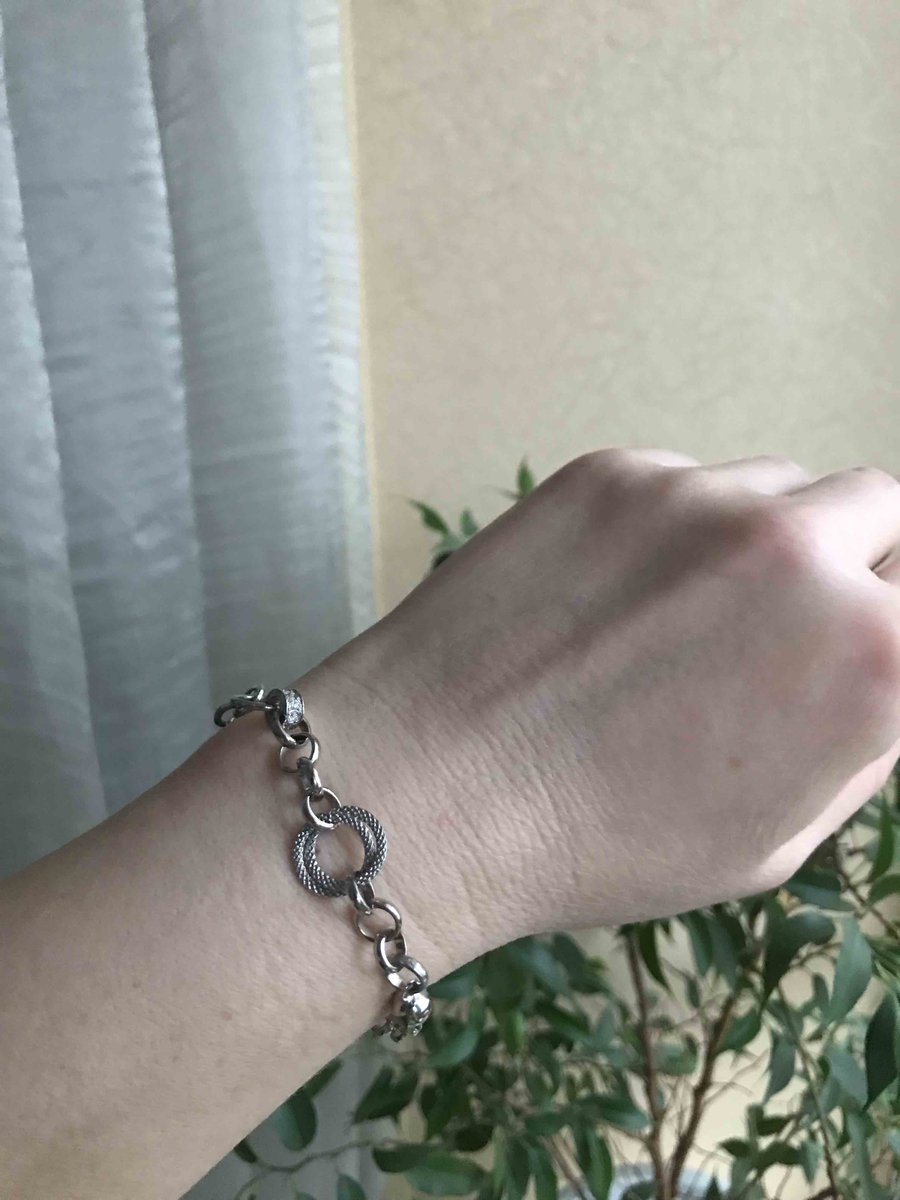 Стильный серебряный браслет.