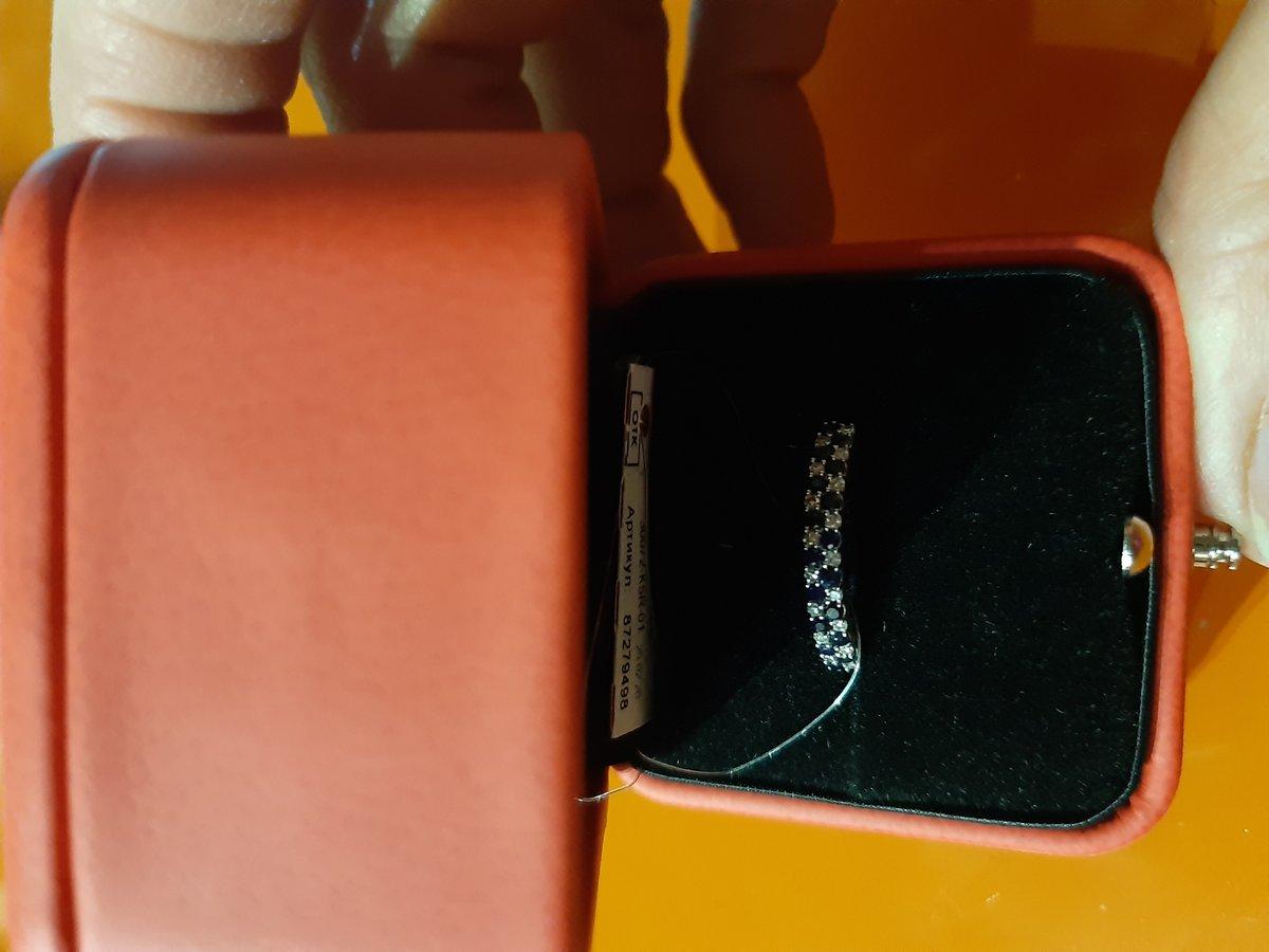 Колечко с сапфирами и бриллиантами