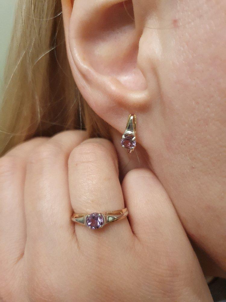 Золотое кольцо с аметистом!