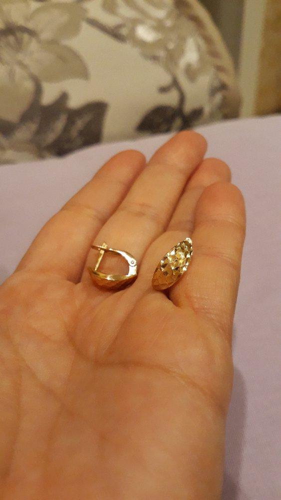 Золотые резные серьги!