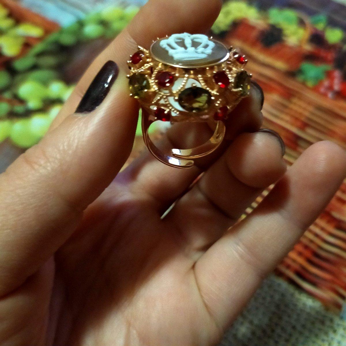 Кольцо из серебра покрытие напыление золото.