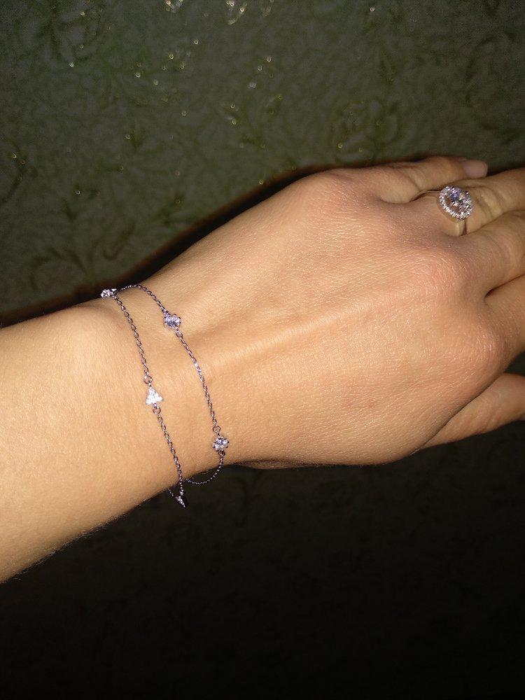 Очаровательный серебряный браслет!