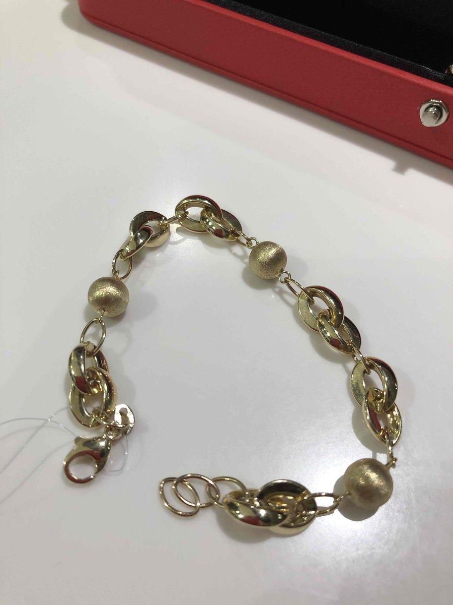 Итальянский изумительны браслет от фирмы ,, санлайт,, из лимонного золота !