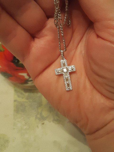 Серебреный крестик