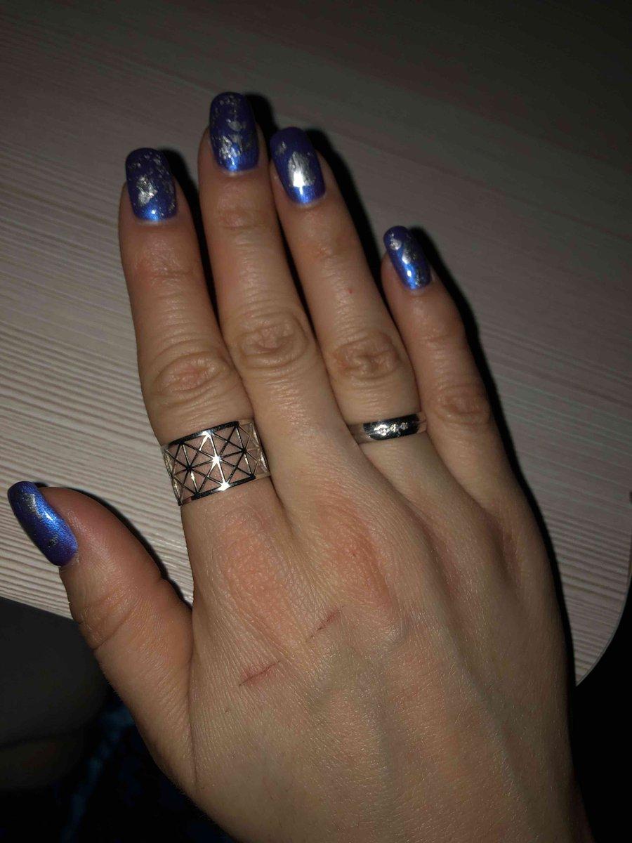 Серебряное кольцо необычное