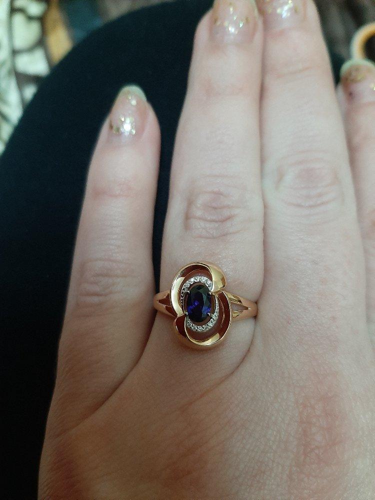Кольцо с сапфироми бриллиантами