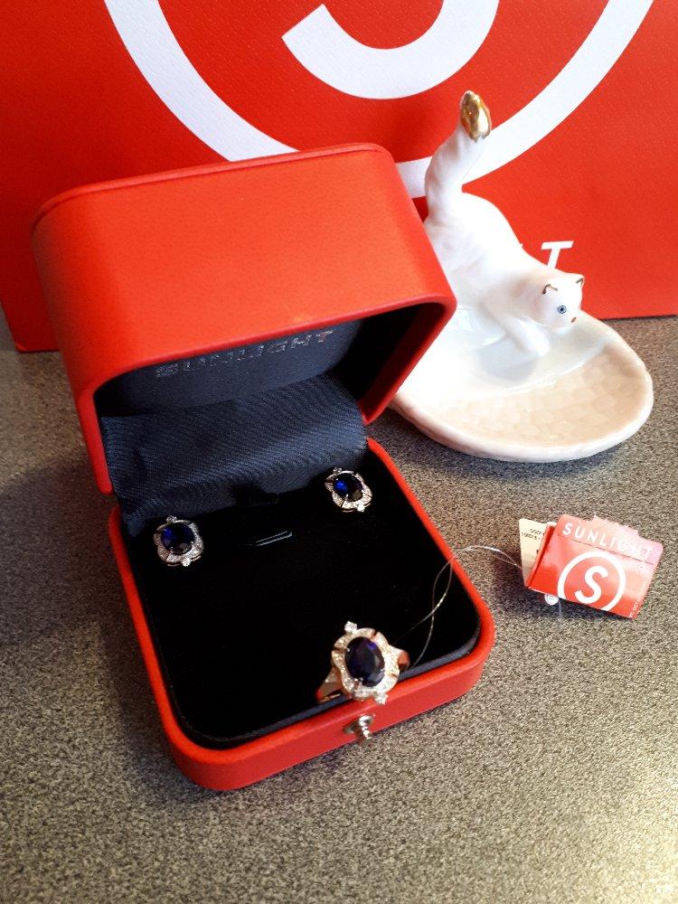 Серьги с бриллиантами и сапфирами-роскошь и элегантность!!!