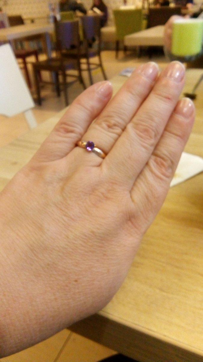 Кольцо золотое с аметистом и бриллиантами