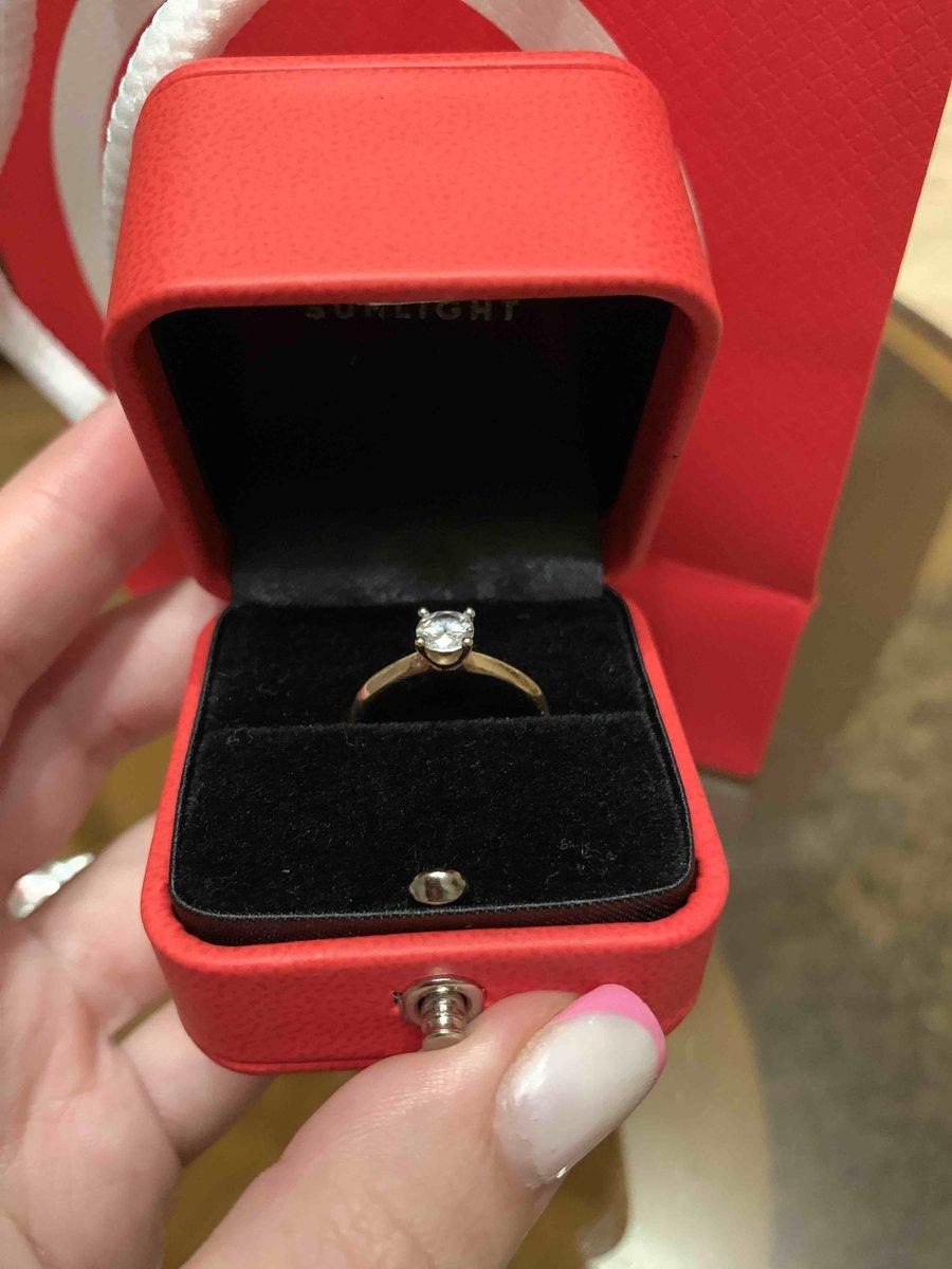 Кольцо золотое,фианит