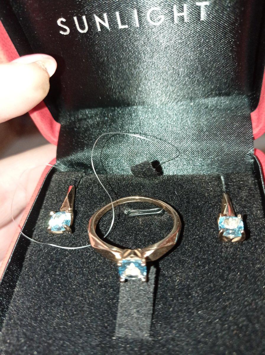 Приобрели комплект серьги и кольцо