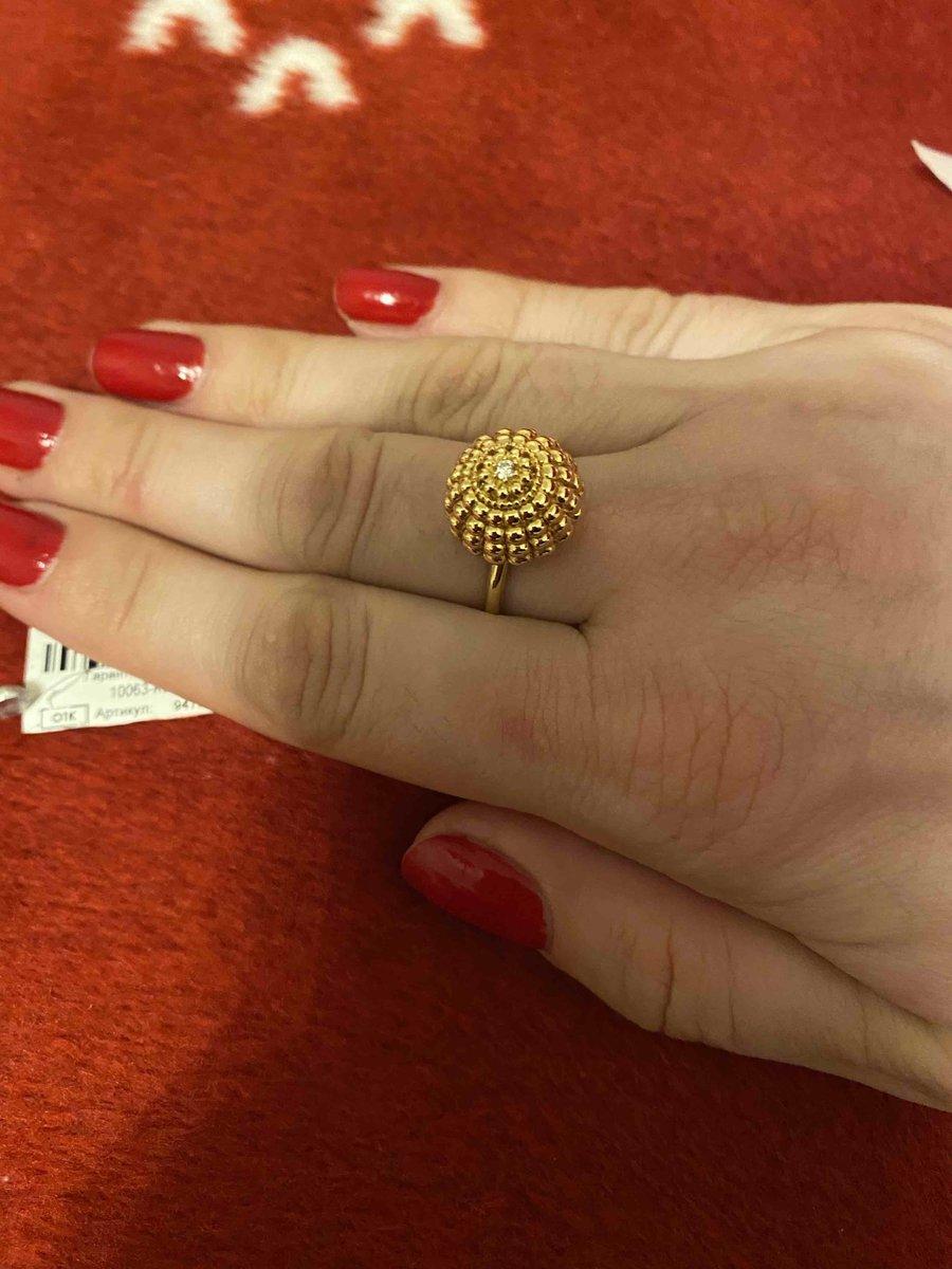 Кольцо итальянское золото