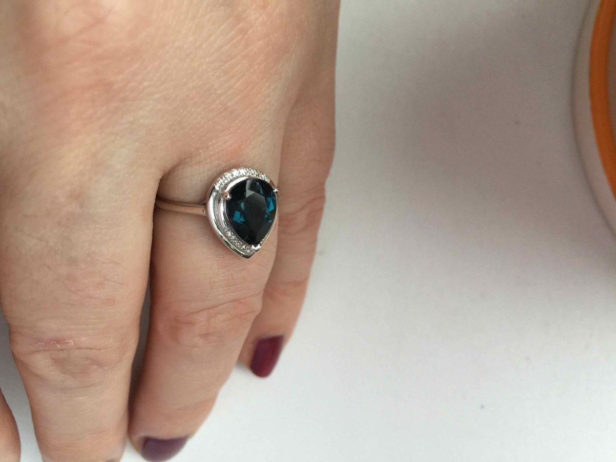 Кольцо с лондон-топазом 🔥