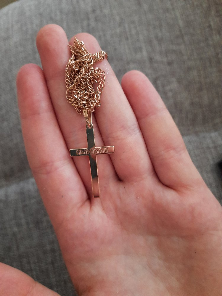 Крестик позолоченные
