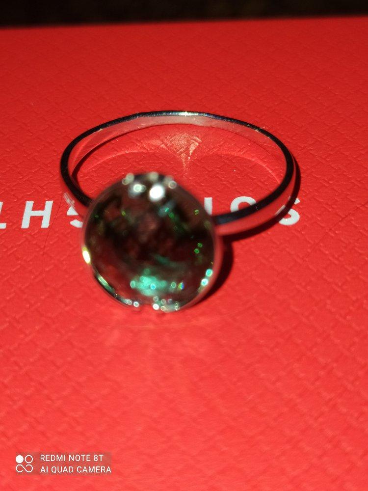 Кольцо с празиолитом.