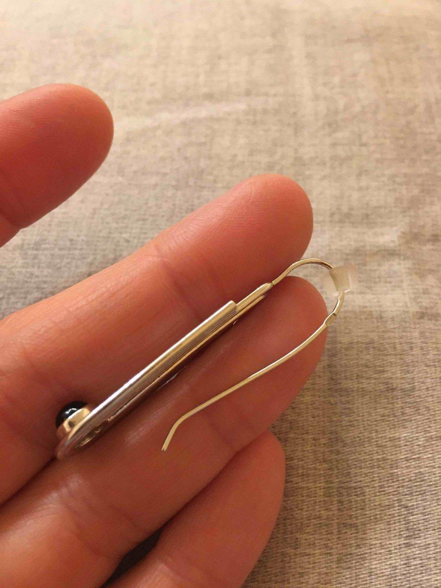Серебряные серьги с ониксом