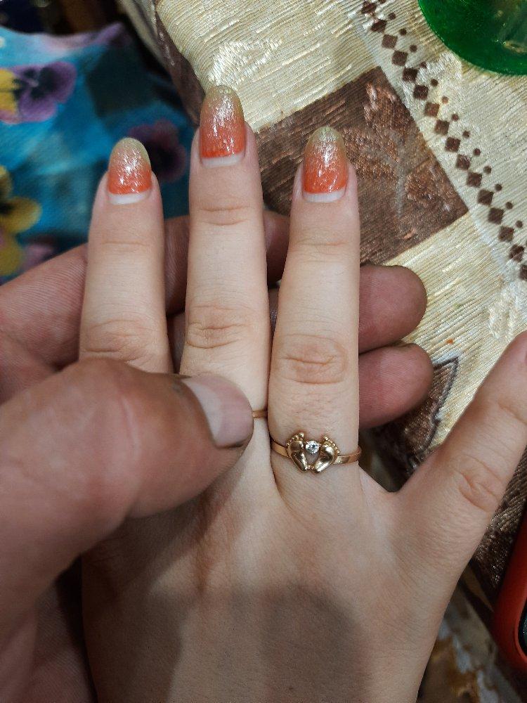 Кольцо с ножкой