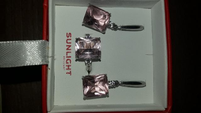 Кольцо с розовым камнем)