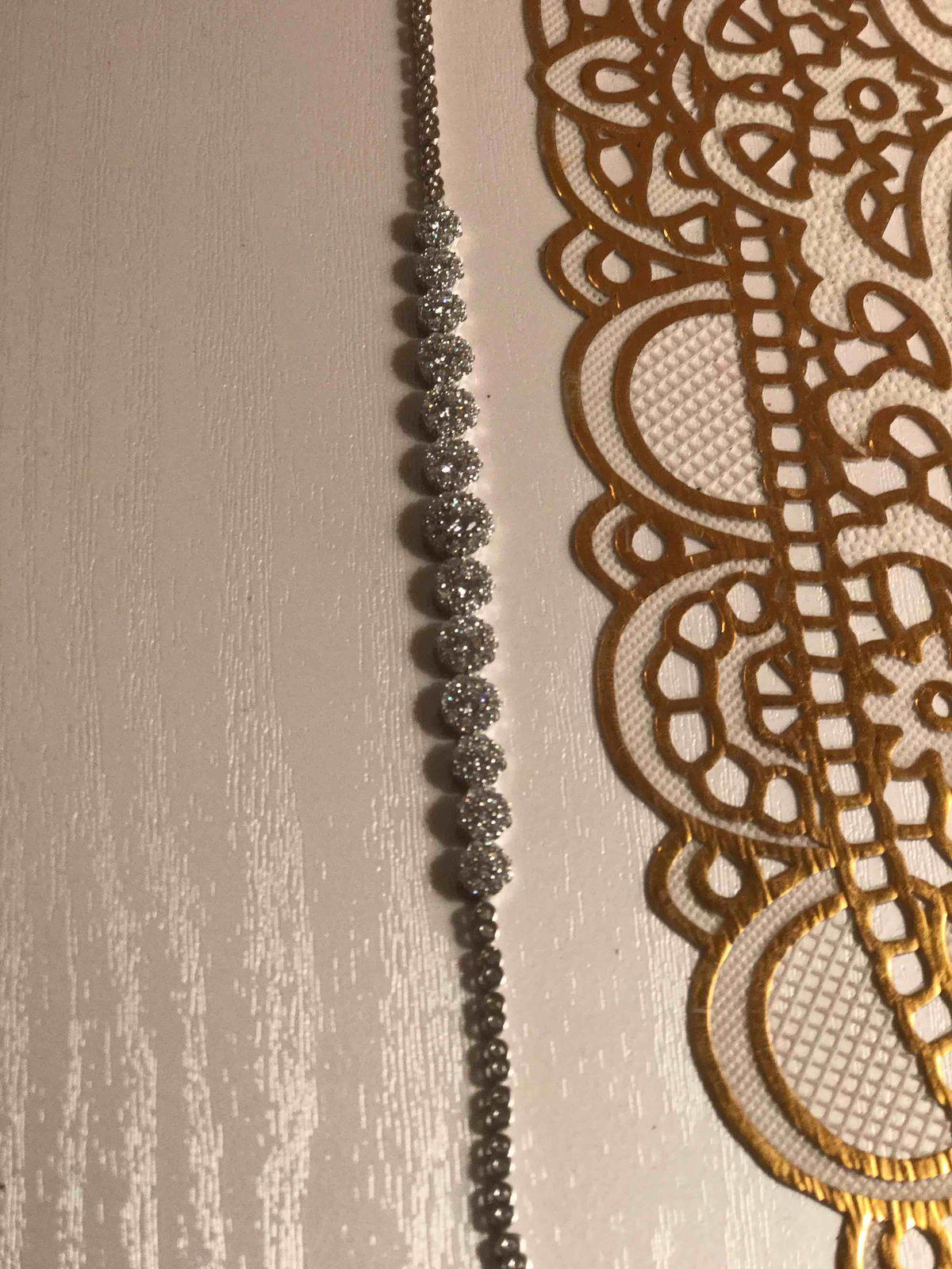 Шикарный браслет из серебра и с фианитами