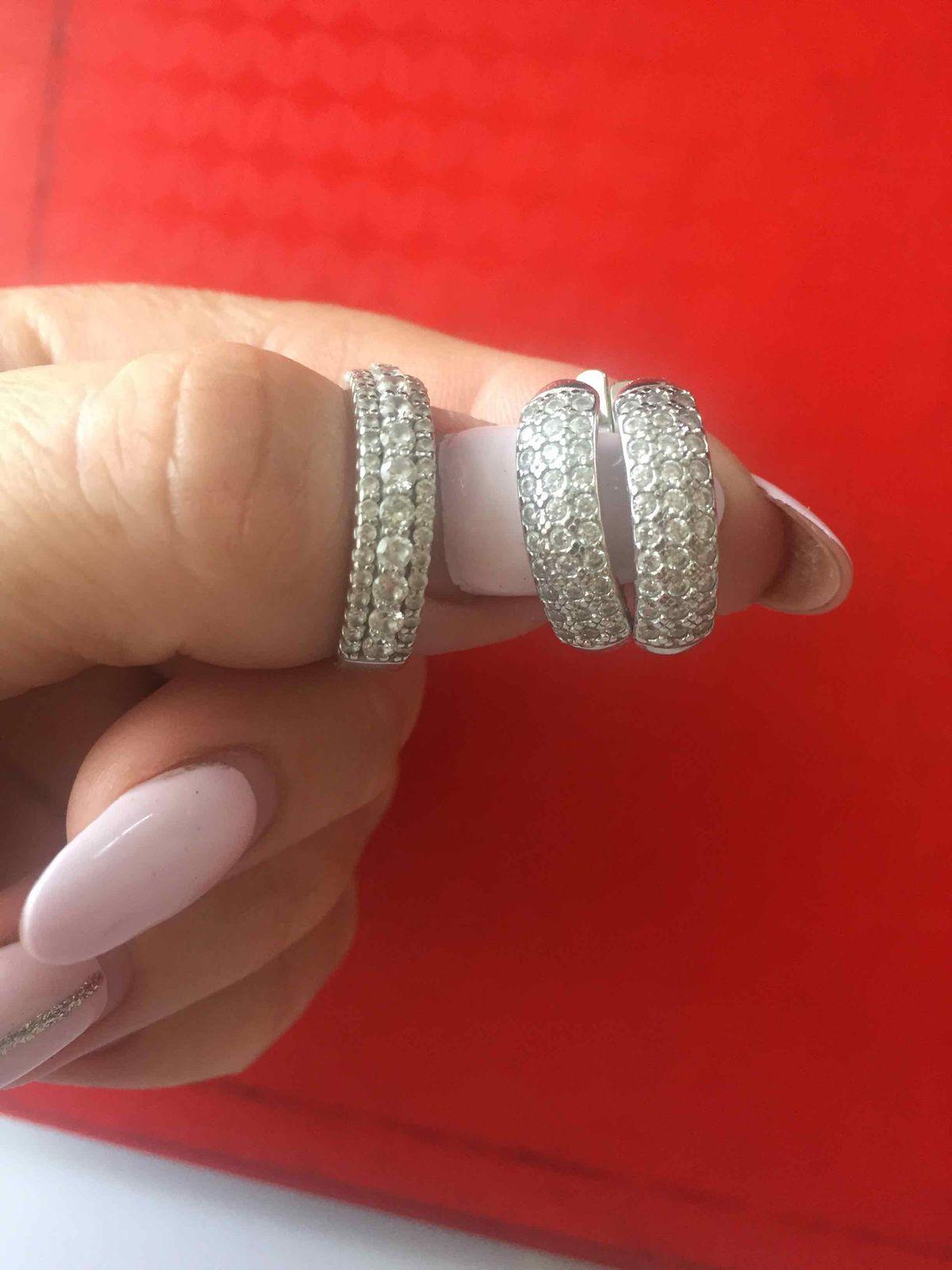 Сережки как кольцо