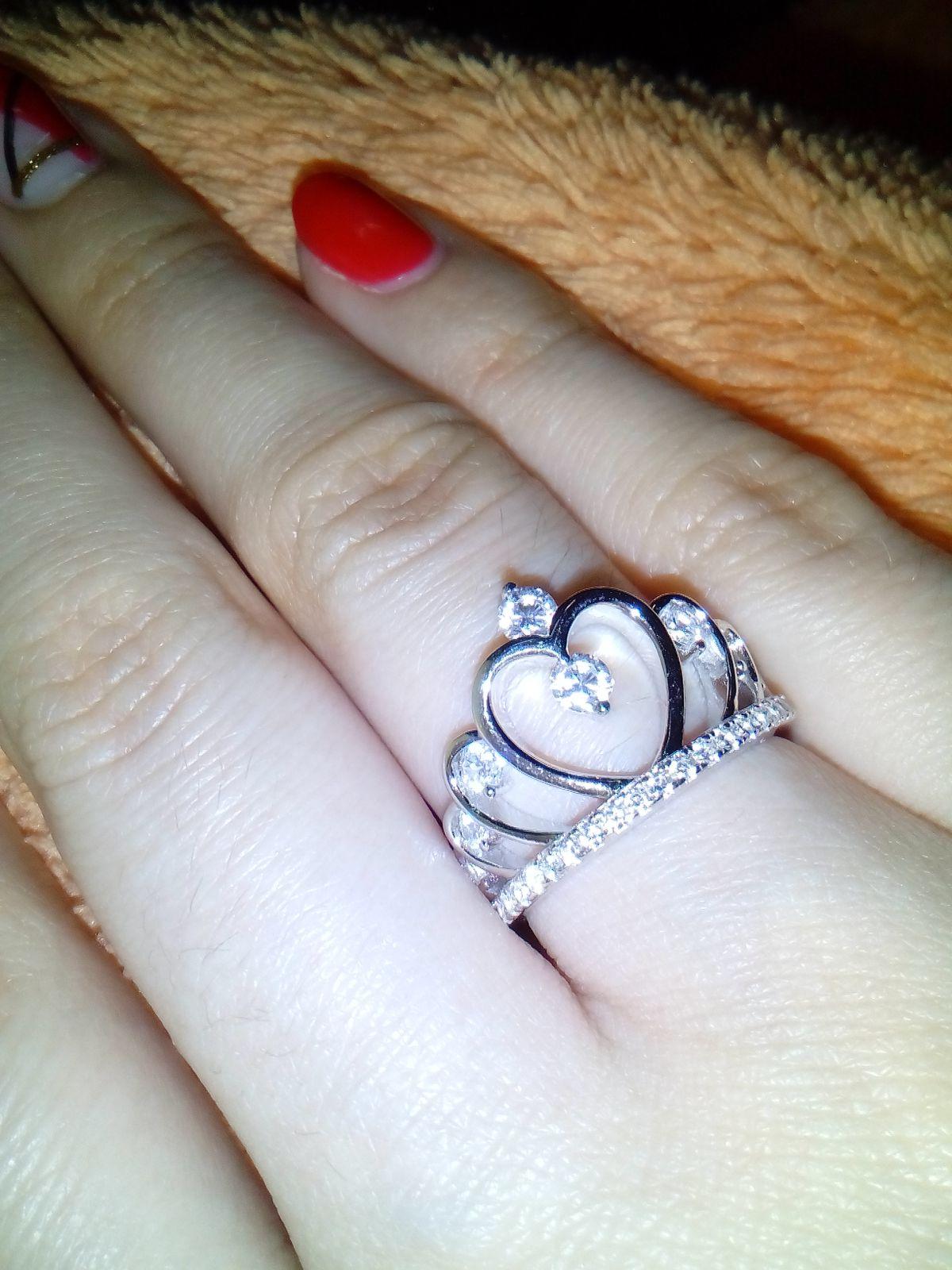 Серебряное кольцо-корона