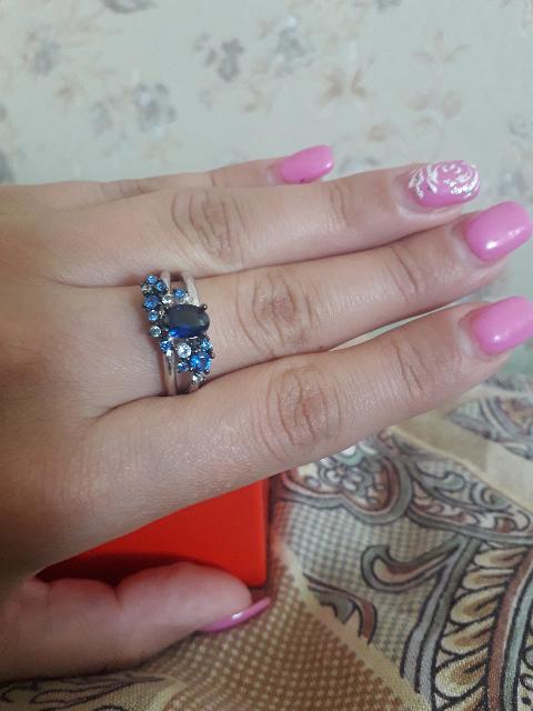 Комплект серьги+кольцо