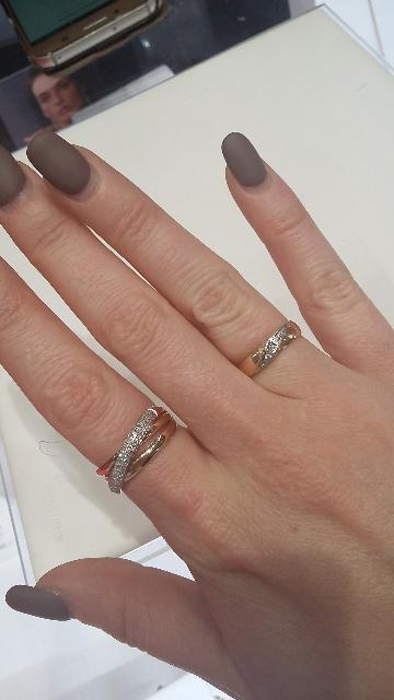 Кольцо с бриллантовой россыпью