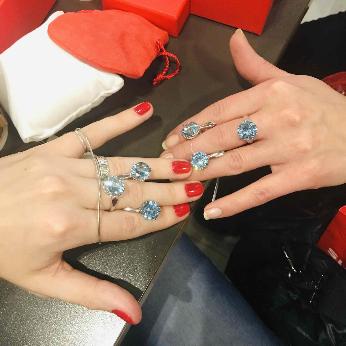 Swiss topaz красиво кольцо