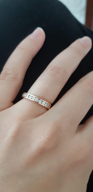 Кольцо с 11 бриллиантами