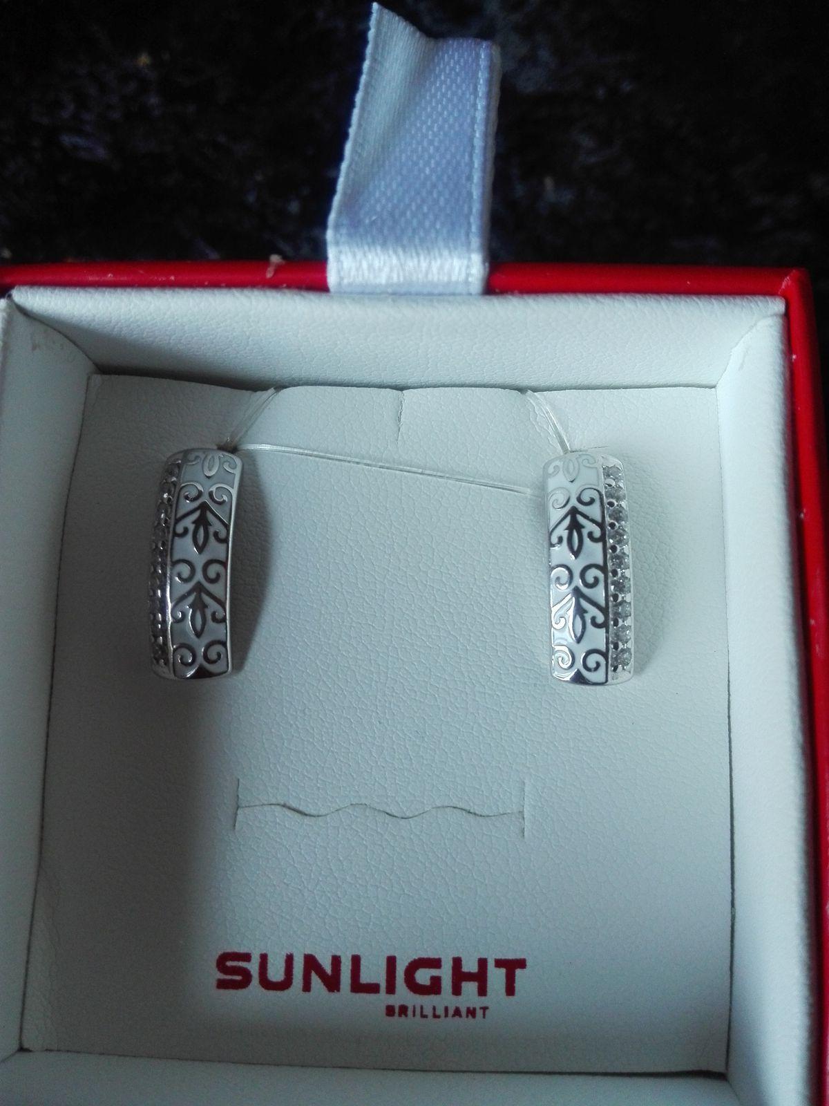 Серьги серебро и эмаль