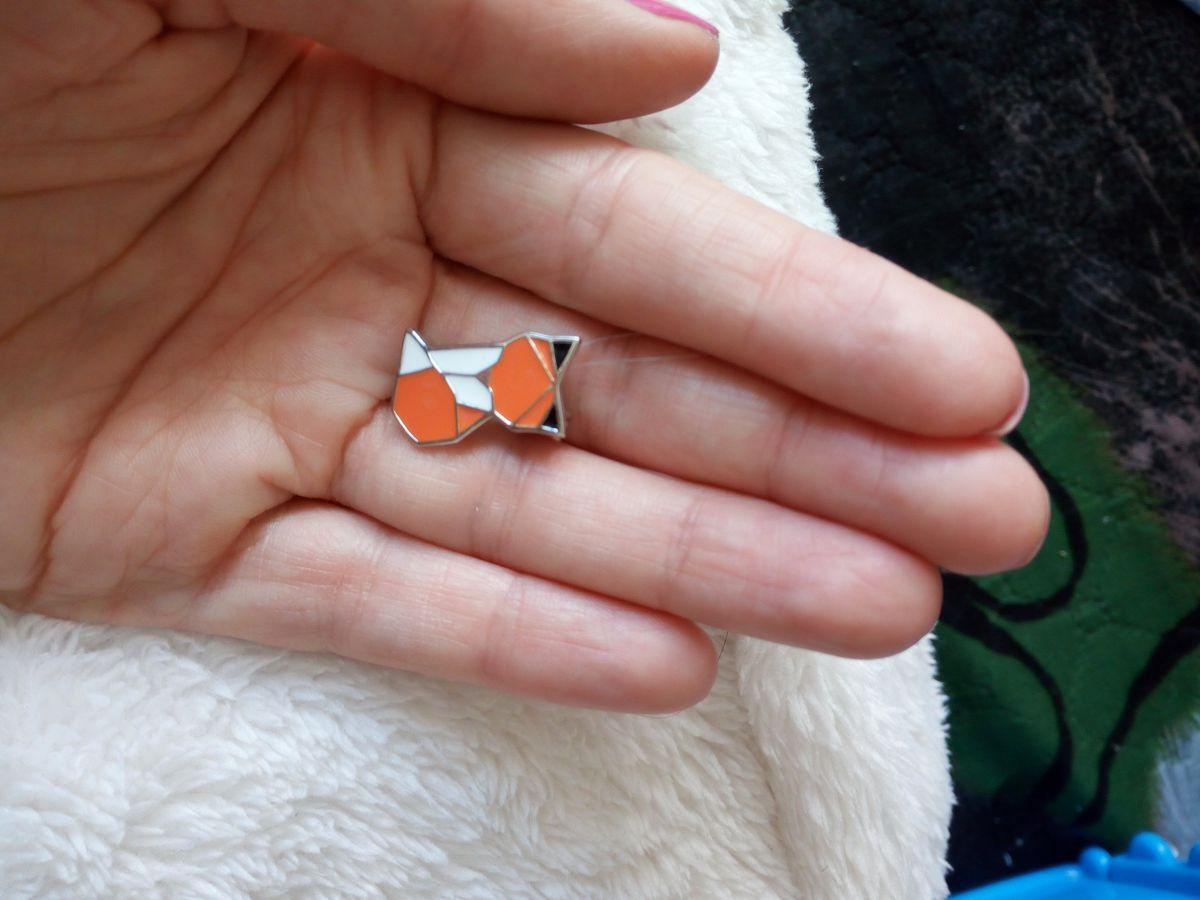 Лисичка-брошь оригами