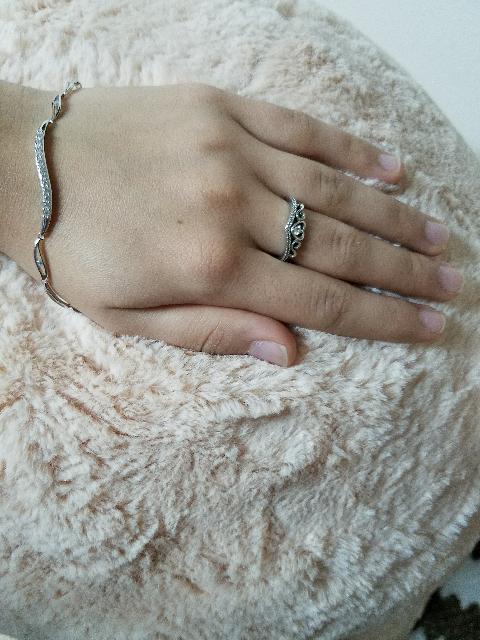 Серебрянный браслет с фианитами