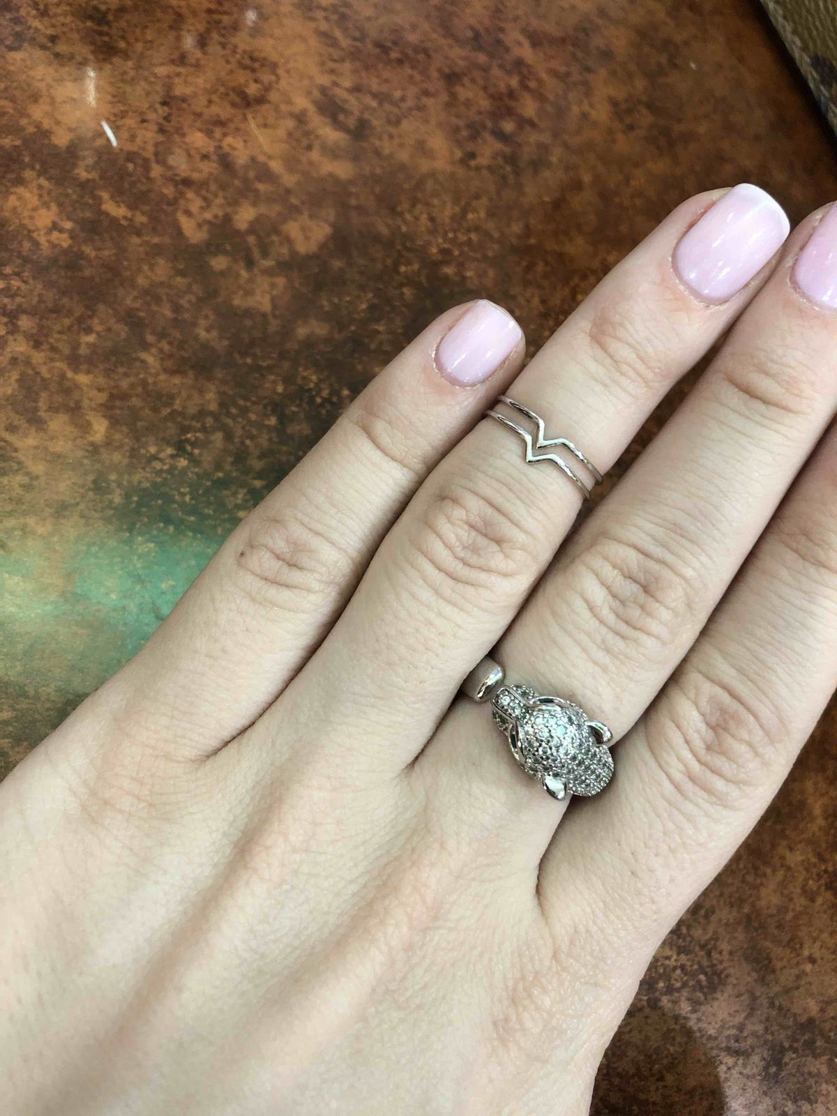 Кольцо на фалангу серебро