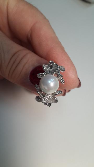 Купила себе кольцо,серьгиочень красивое,жемчуг смотрится очень нежно!!!👍👍
