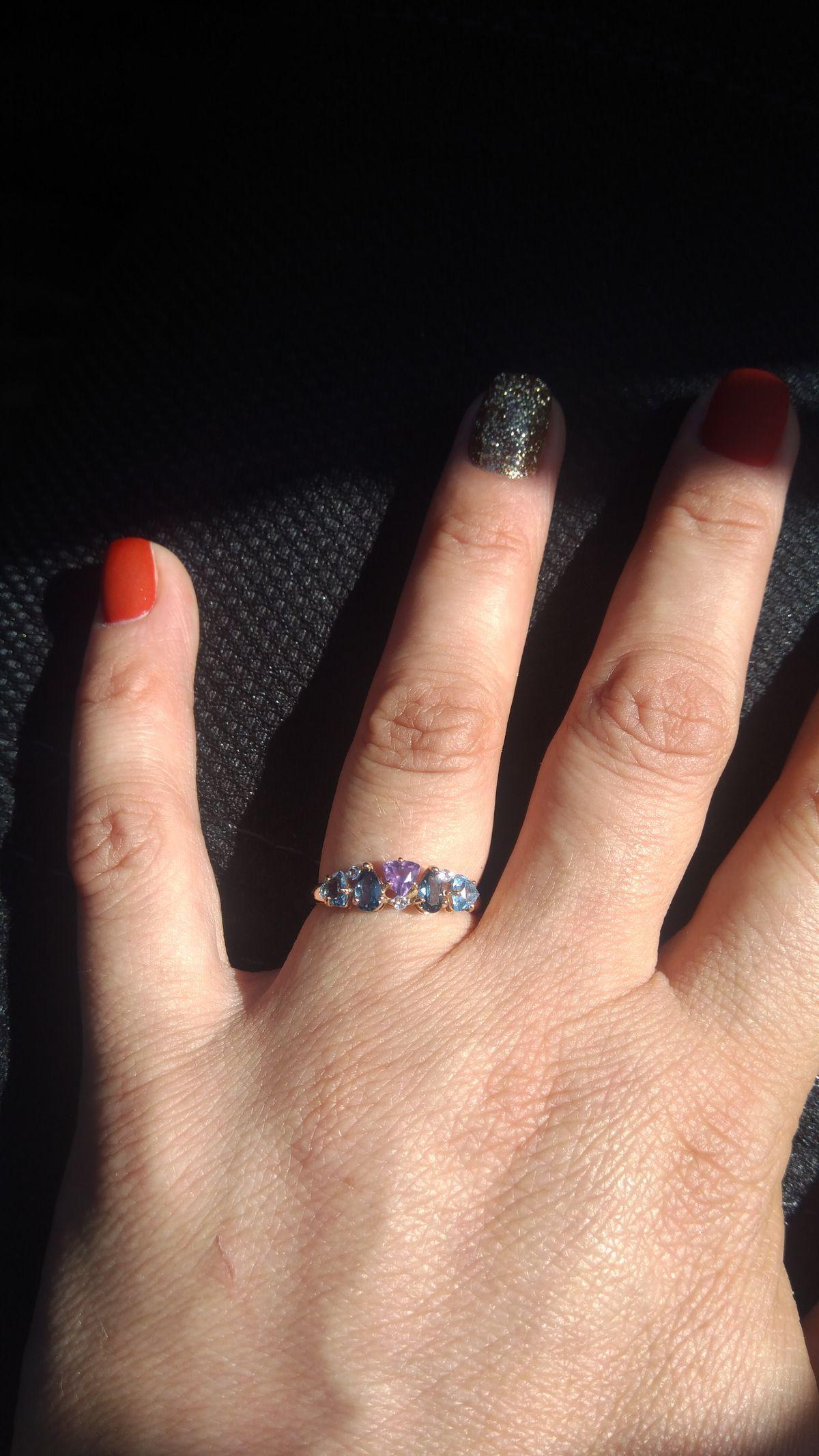 Давно хотела кольцо с аметистом.
