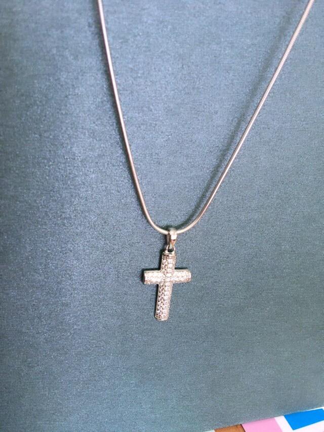Крест с фианитами😇