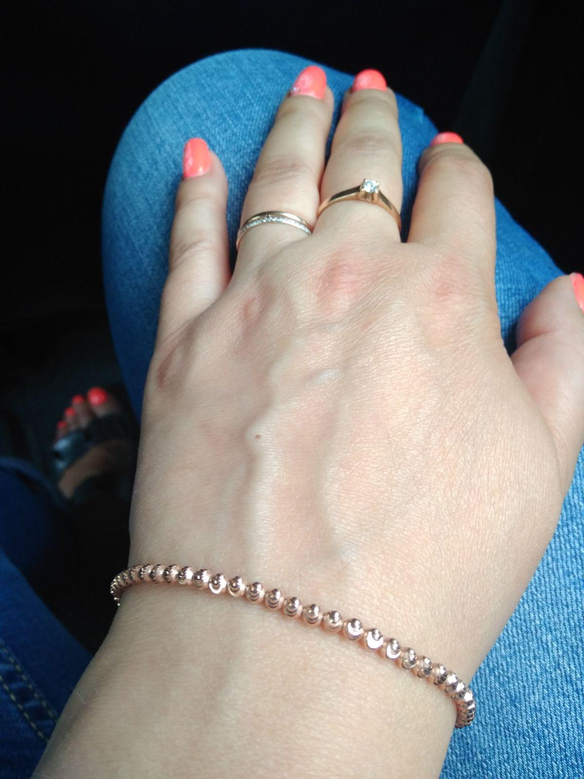 Позолоченный браслет