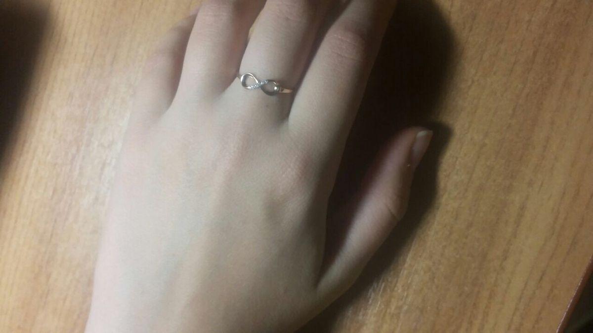 кольцо со знаком бесконечности sunlight
