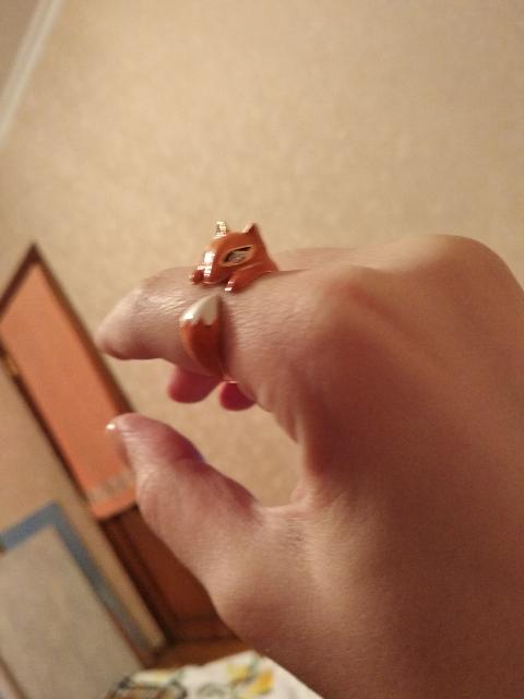 Милое колечко лисенок)