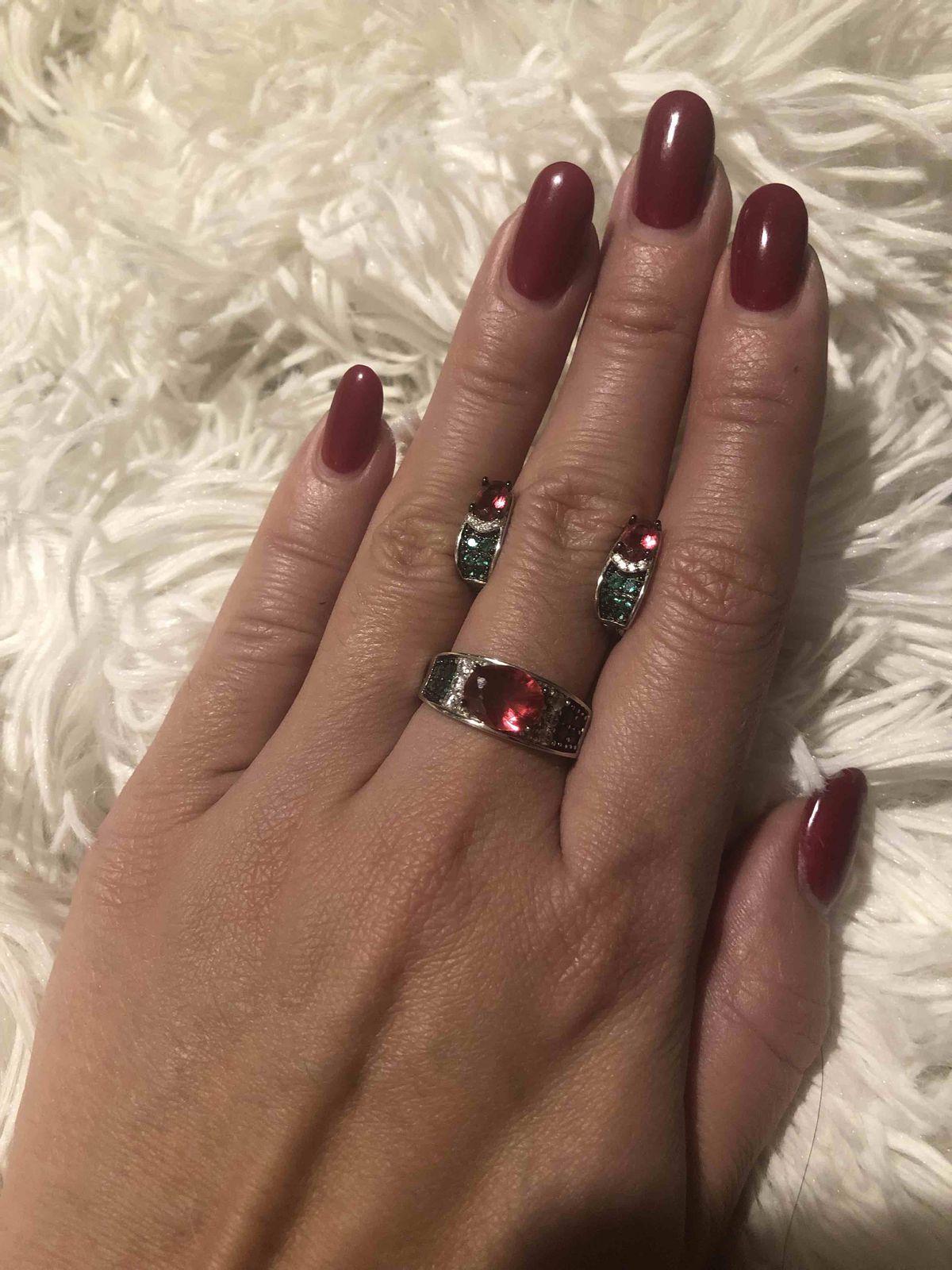 Серьги и кольцо с алпанитом