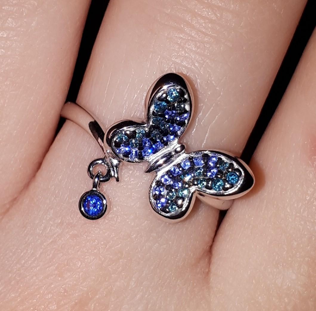 Интересное колечко с бабочкой