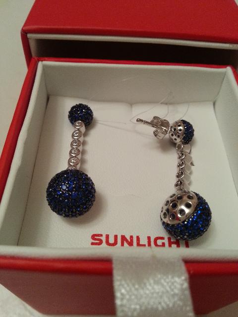 Сияющие синие шарики