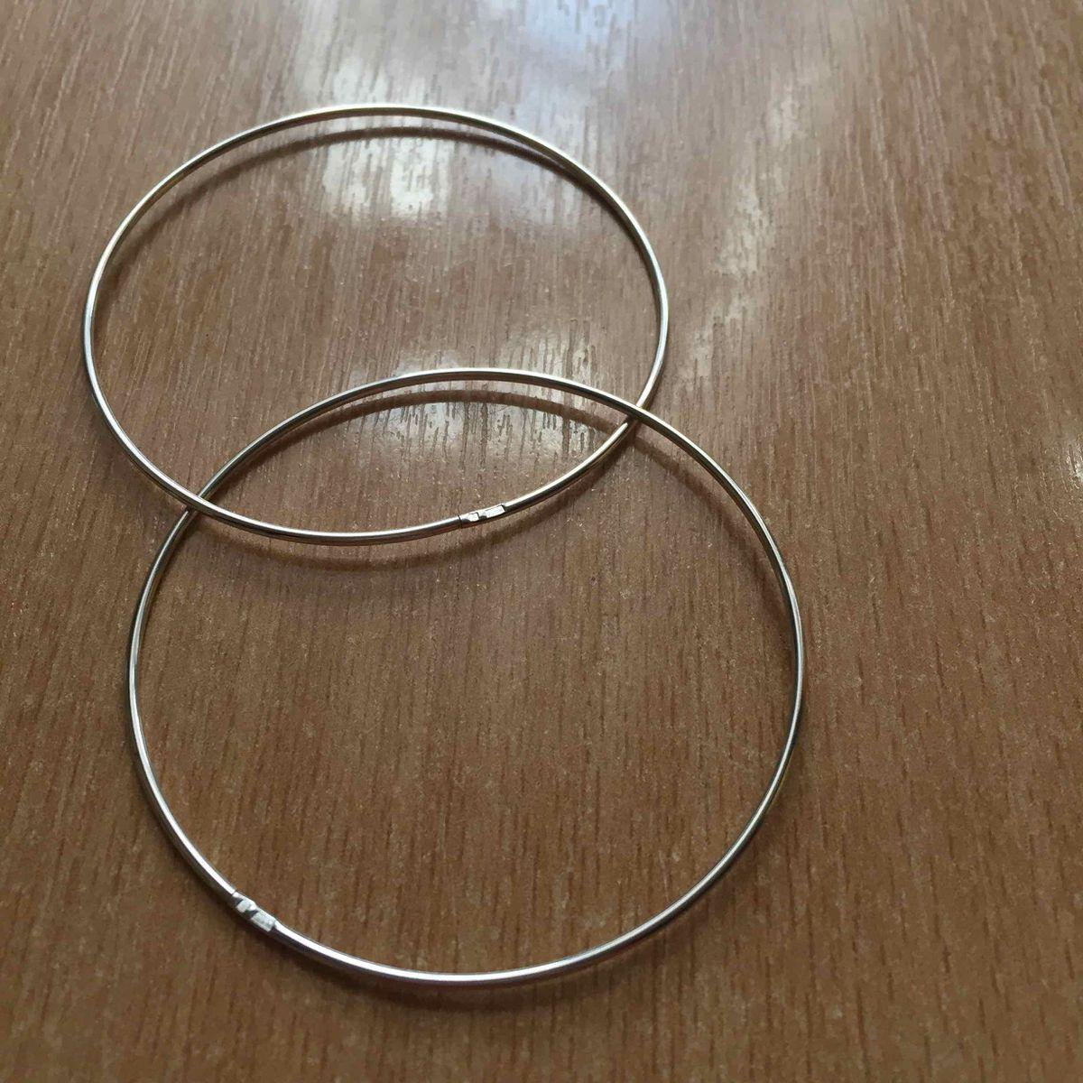 Тонкие серьги-кольца