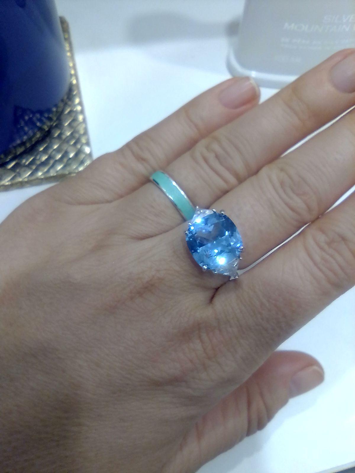 Шикарное коктейльное кольцо