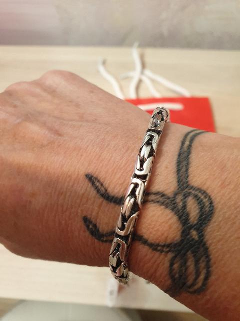 Подарок стильный, серебряный браслет