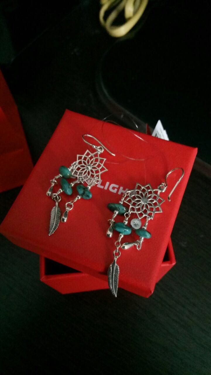 Очень милые сережки с бирюзой