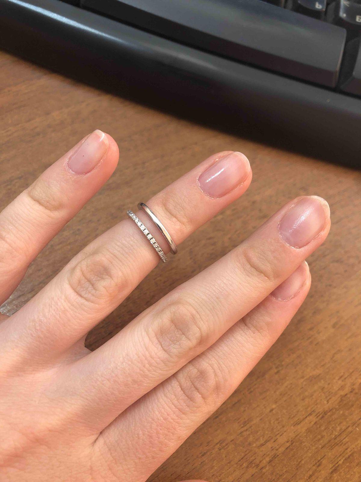 Кольцо серебро, фианиты