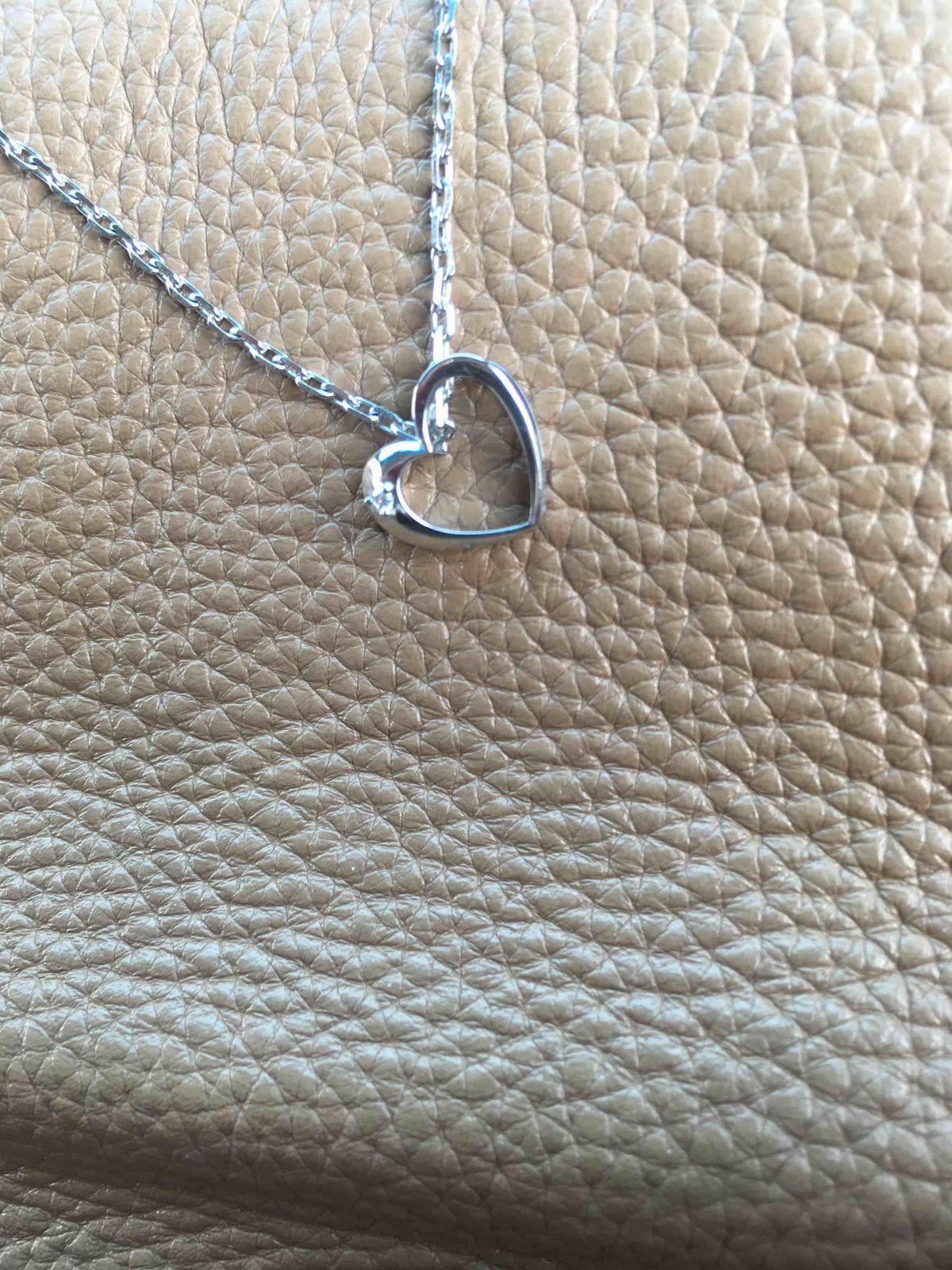 Сердечко с бриллиантом